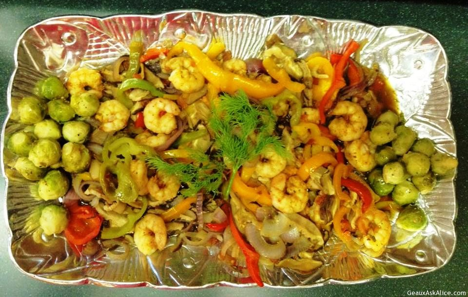 Shrimp En Papillote (Served Up)