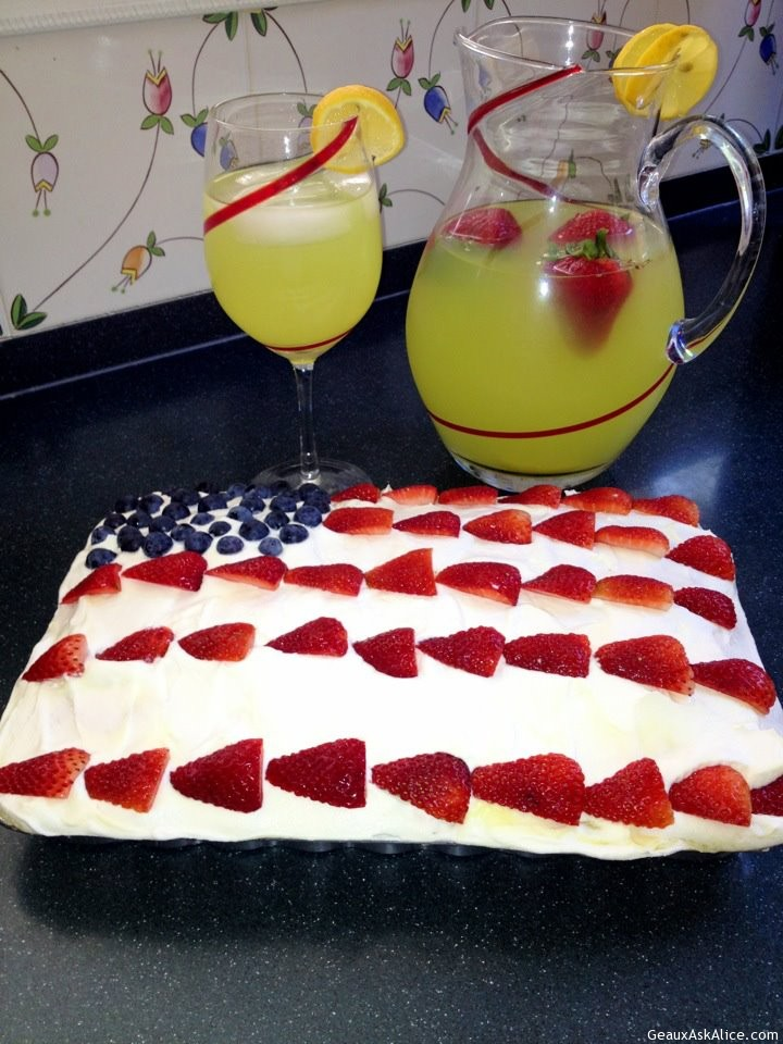 Maw-Maw's Patriotic One Pan Cake