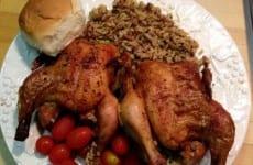 Baked Cornish Hens
