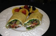 Black Bean And Rice Wrap