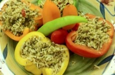 Stuffed Bell Peppers or Tomatoes with Rice Dressing