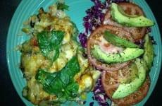 Chicken Casserole with Salad