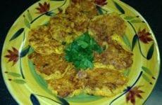 Crawfish Cornbread Pancakes