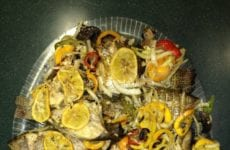Grilled Fish With Lemon Basting Sauce And Seasonings