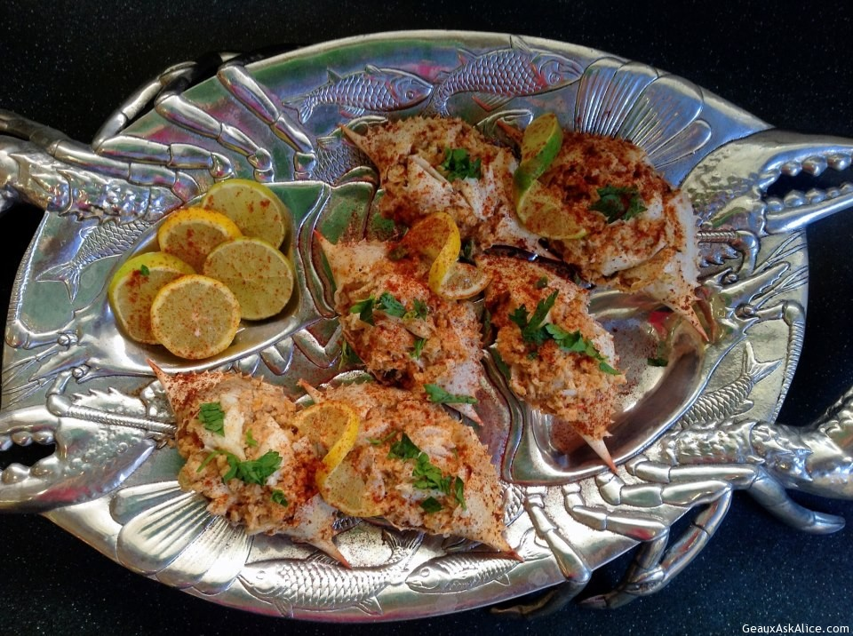 Stuffed Crabs With Lump Crabmeat