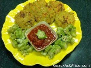 Okra and Tomato Patties