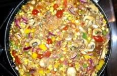Crawfish Etouffee Pasta and Corn