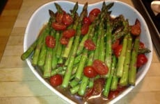 Parmesan Roasted Asparagus and Tomatoes