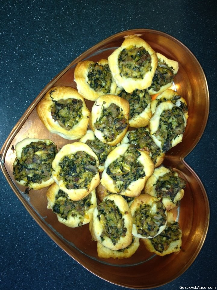 Sausage & Spinach Cups