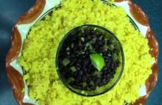 Black Beans with Yellow Rice