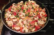 Shrimp and Corn Saute