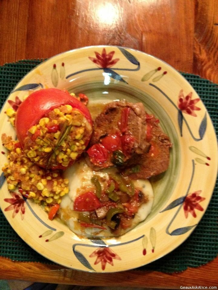 Plated Up Pepper Steak