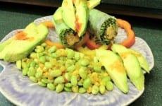Edamame and Corn Relish Roll