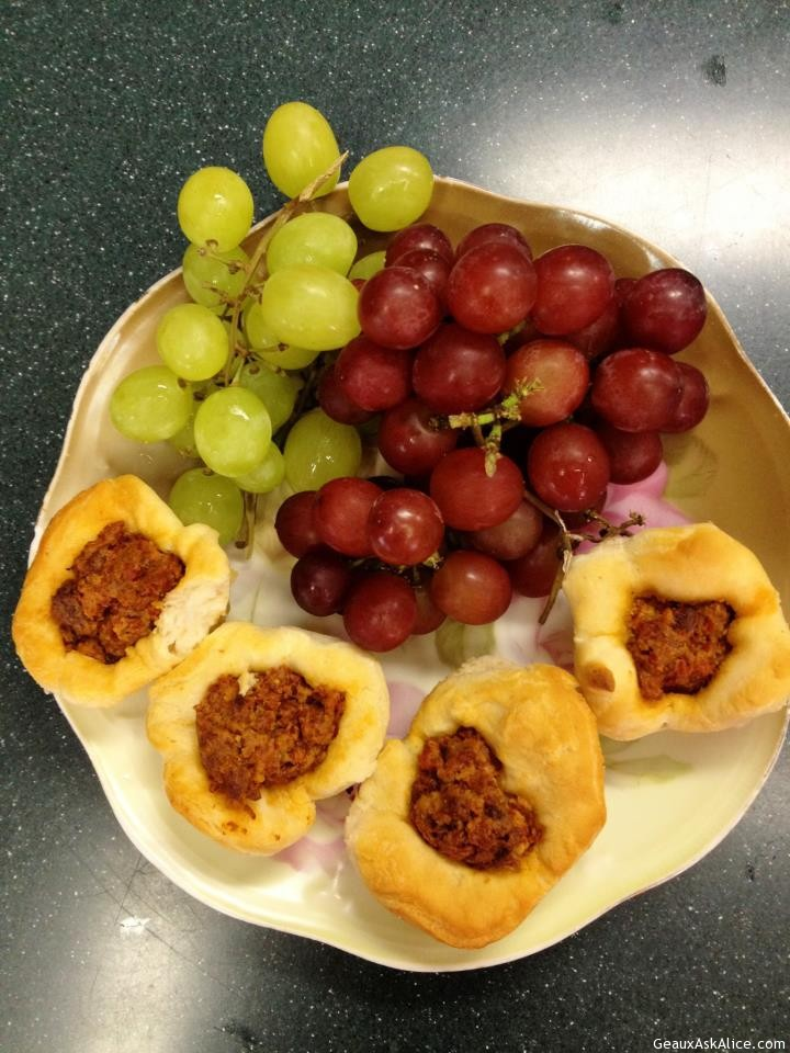 Pastry Cup Filled With Sun-dried Tomato With Goat Cheese