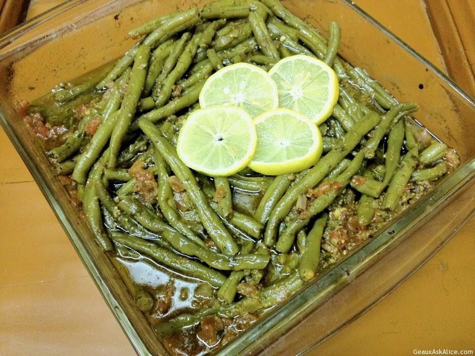 Lemon Tang Green Beans