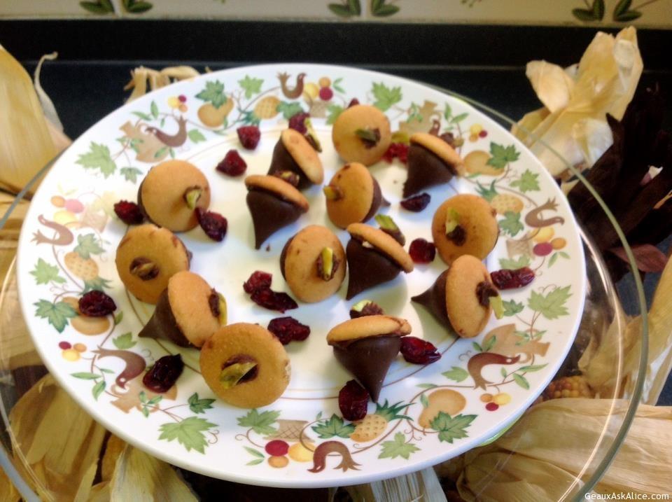 Vanilla Wafer Acorn Cookies