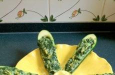 Stuffed Zucchini With Spinach
