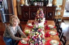 Alice Setting Her Christmas Table.