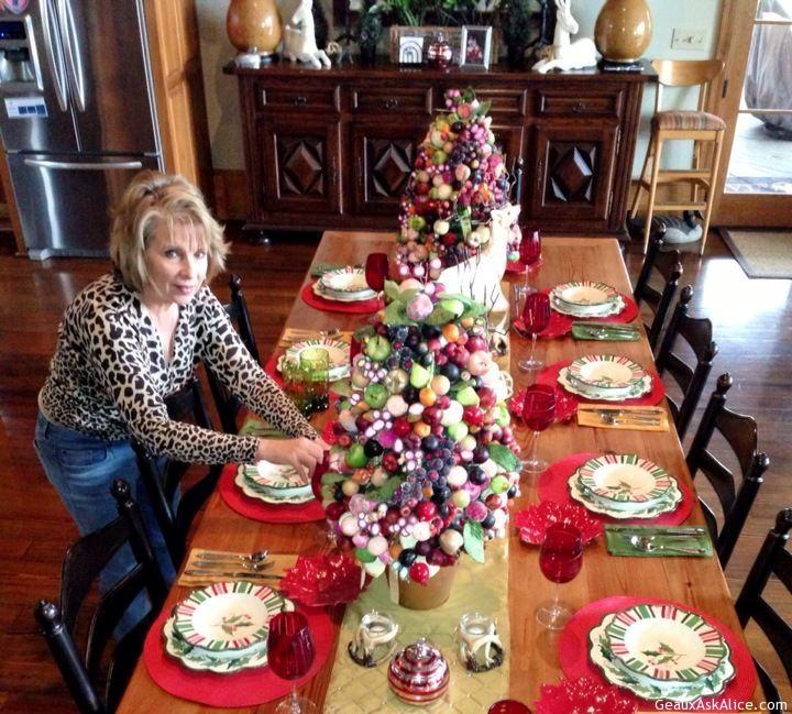 Alice Setting Her Christmas Table.