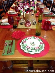 Christmas Dishes.