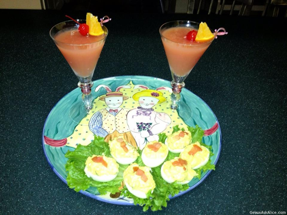 Red Rooster Drinks Served Up With Salmon Deviled Eggs