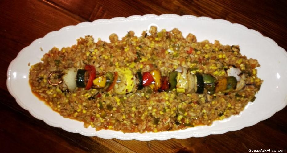 Dish Of Alice's Spicey Rice Pilaf
