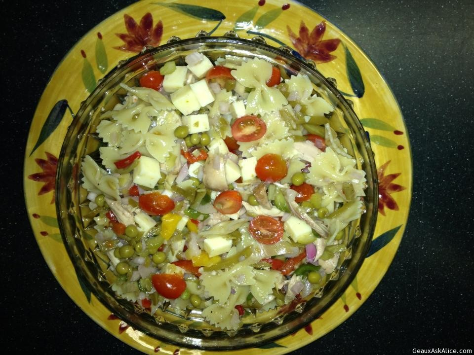 Mardi Gras Salad Dished Up.