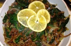 Dish of Sauteed Spinach