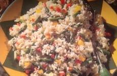 bowl of Asparagus Rice