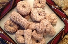 MAW-MAW'S ITALIAN SESAME SEED COOKIES in a plate