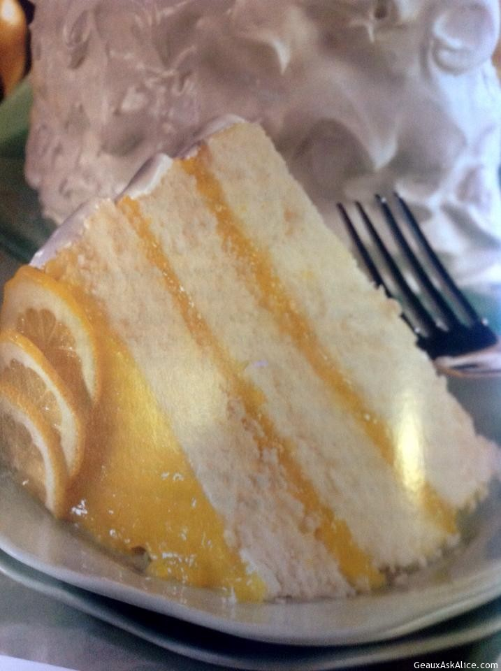 Slice Of Tart Lemon Cheese Cake