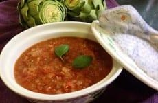Dish of Alice's Fresh Tomato Sauce