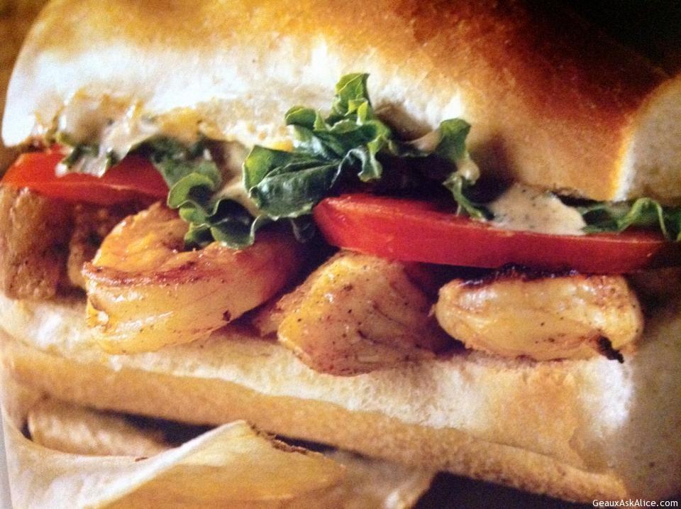 Grilled Shrimp Poboy.