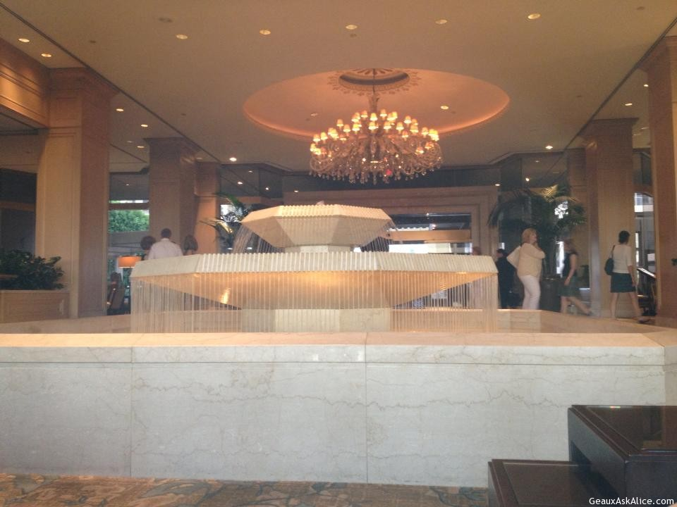 Fountain In Lobby.