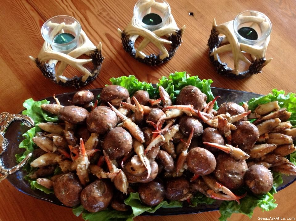 Alice's Marinated Crab Claws And Mushrooms