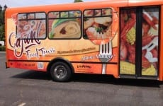 Bus for Cajun Food Tours