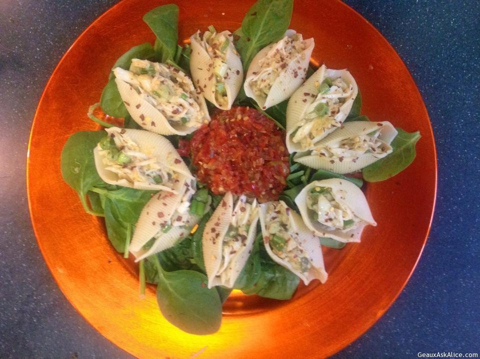 Crab Stuffed Jumbo Pasta Shells