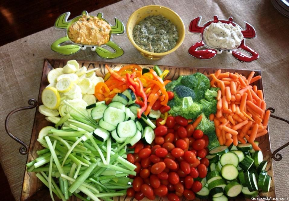 Tray Of Veggies With Dip