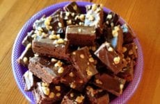 Chocolate Nutty Fudge Brownies