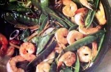 Ginger Stir-Fry Shrimp and Snow Peas