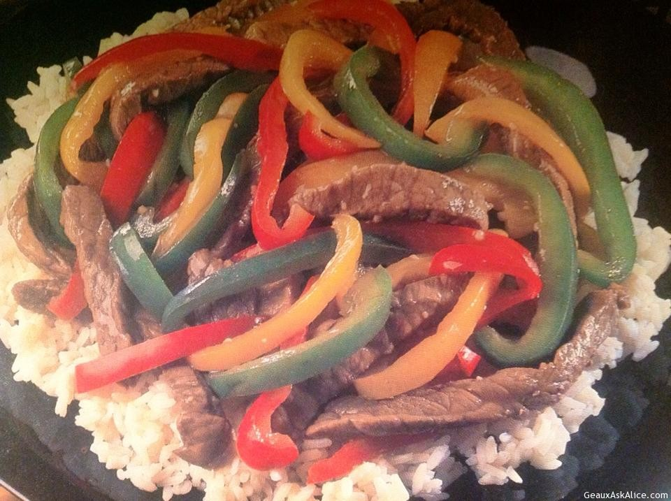 Teriyaki Beef And Sweet Peppers
