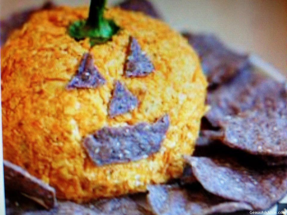 Pumpkin Head Cheese Ball