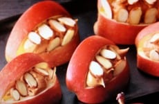 Scary Apple Peanut Butter Mouths