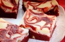 Valentine Red-Swirl Brownies