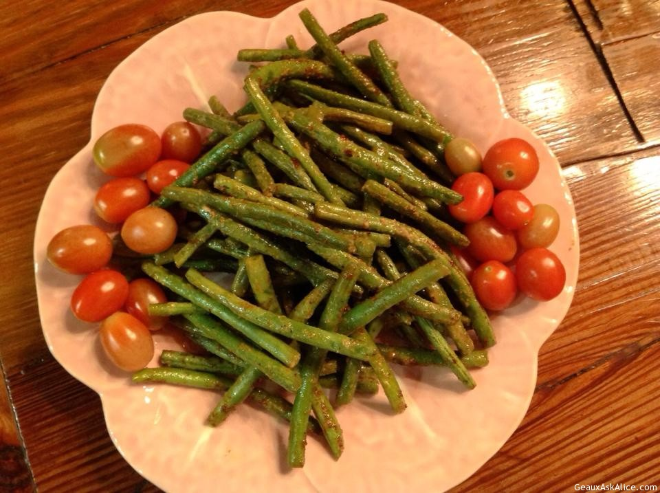 Zippy Roasted Green Beans
