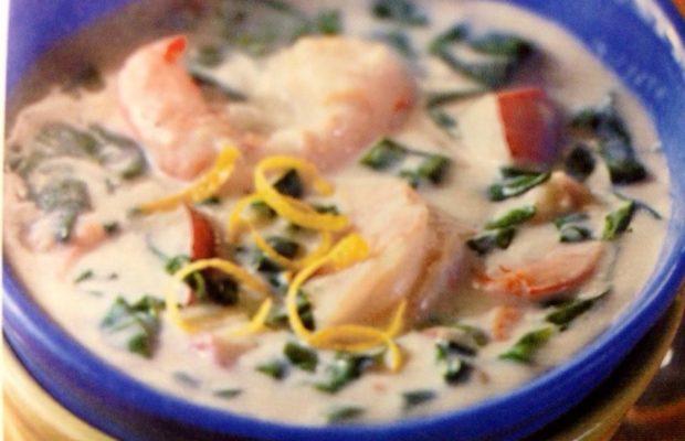 Creamy Spinach And Shrimp Chowder