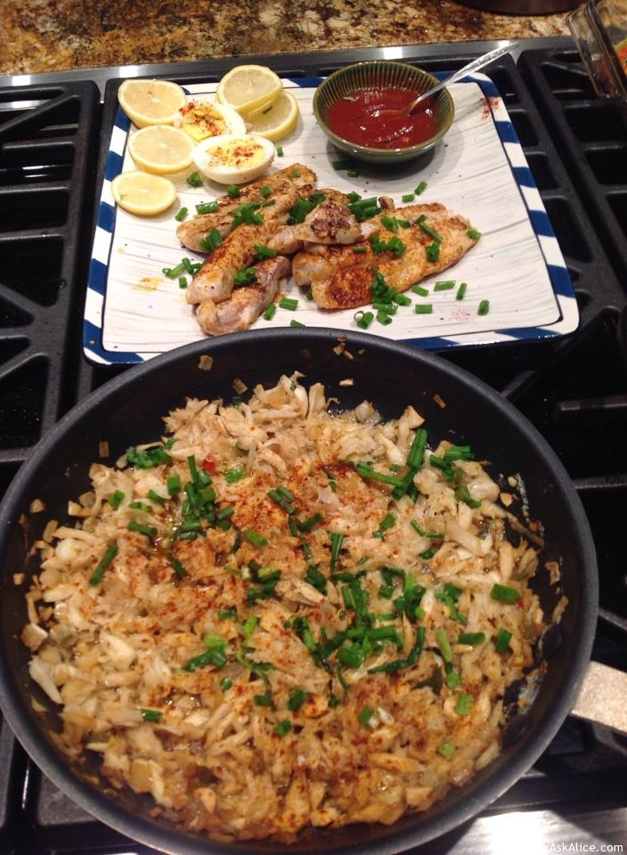Pat's Pan-Sautéd Speckled Trout With Crabmeat Topping