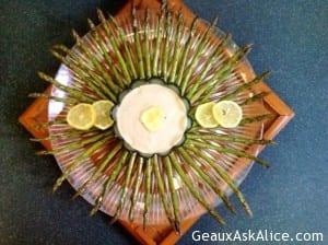 Asian Asparagus Tips With Lemon Chive Aioli