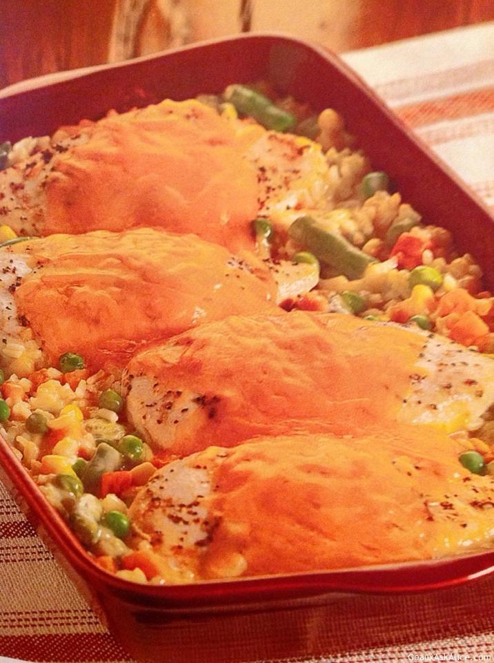 Elegant And Easy Chicken Rice Casserole