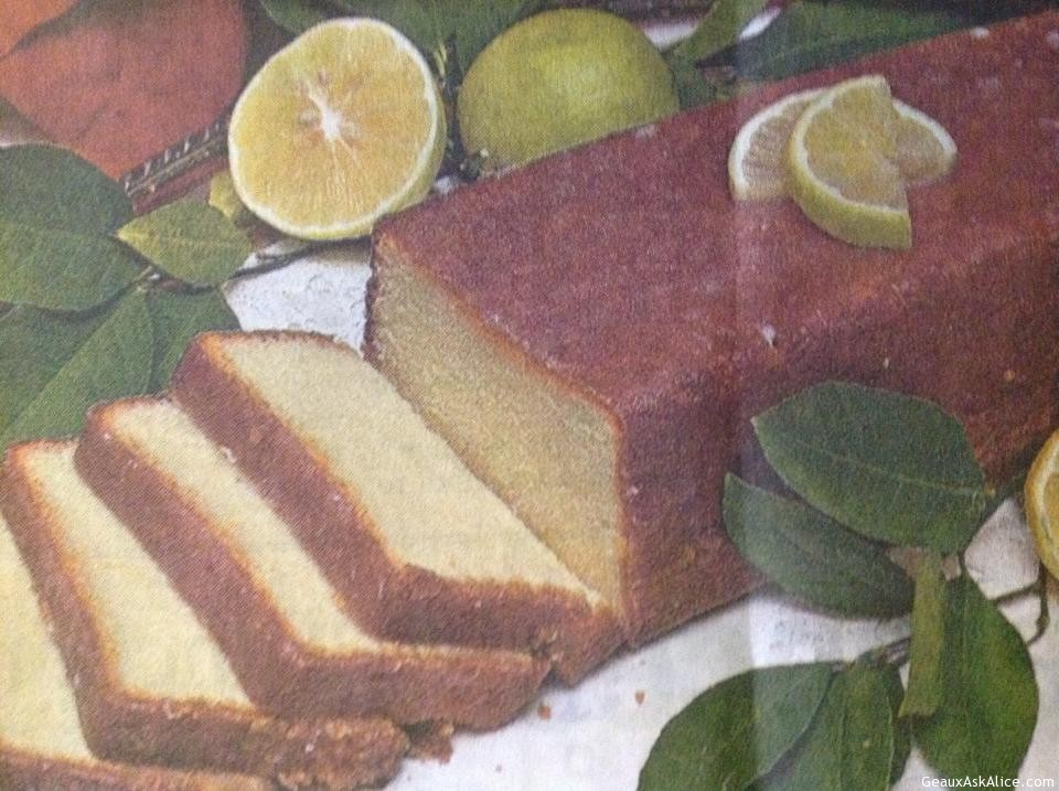 Meyer's Lemon Pound Cake